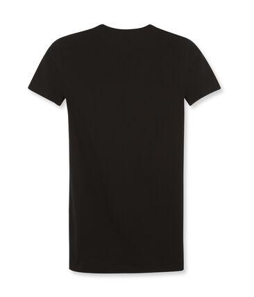 Camiseta de mujer icónica de manga corta negro Noir