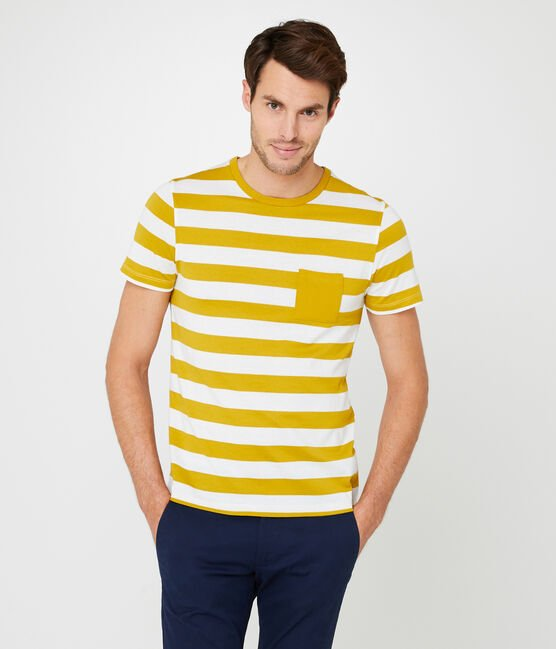 Camiseta manga corta para hombre amarillo Bamboo / blanco Marshmallow