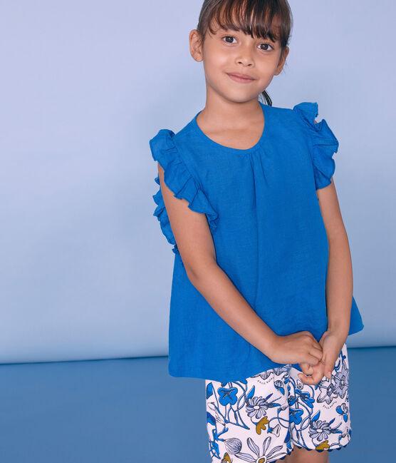 Bermudas infantiles para niña blanco Marshmallow / blanco Multico