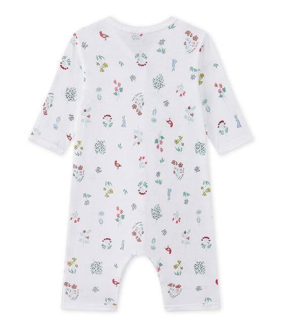 Pijama sin pies estampado para bebé niña blanco Ecume / blanco Multico