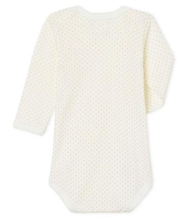 Body de manga larga para bebé niña blanco Marshmallow / rosa Charme