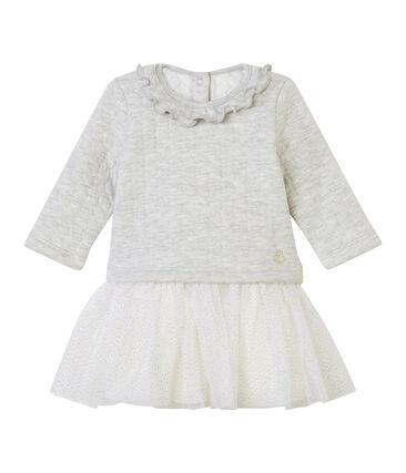 Vestido de bebé de manga larga falso para niña
