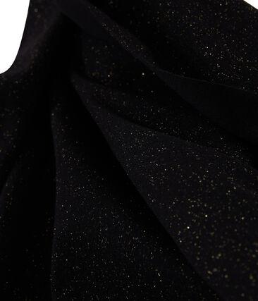 Bufanda brillante para mujer negro Noir / amarillo Or