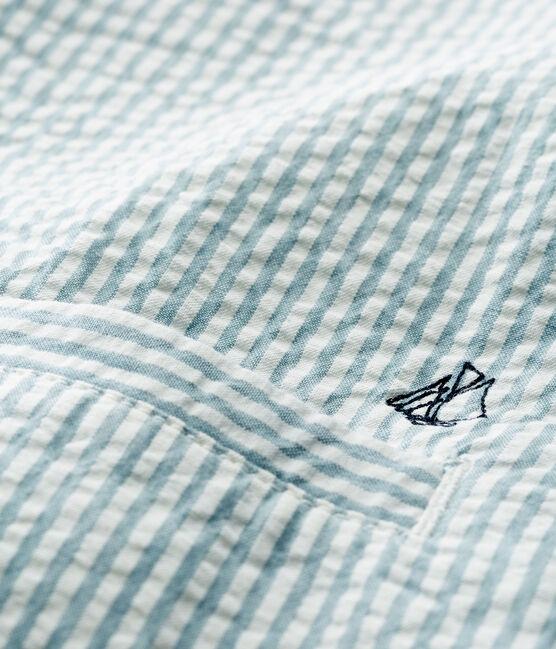 Chaqueta de rayas para bebé niño azul Fontaine / blanco Marshmallow