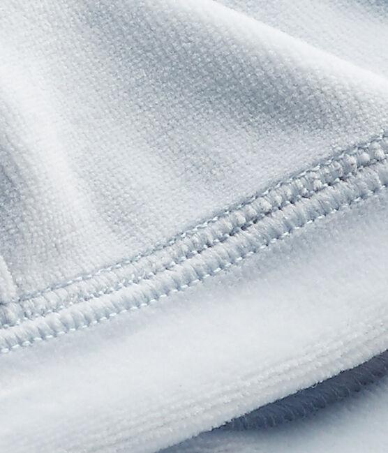 Gorro de nacimiento en terciopelo para bebé unisex azul Fraicheur
