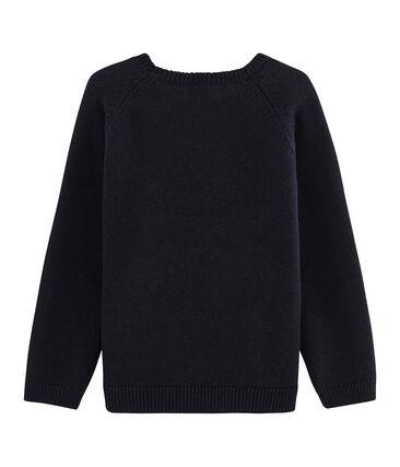 Jersey de punto de lana y algodón para niño