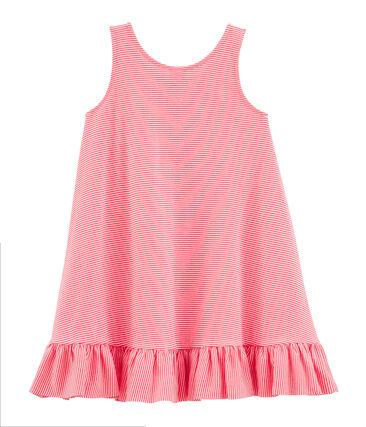 Vestido sin mangas para bebé niña rosa Petal / azul Crystal