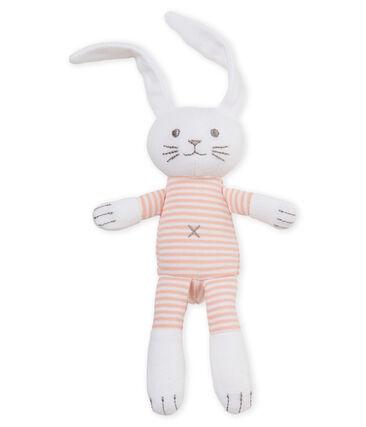 Peluche de conejo para bebé de jersey rosa Rosako / blanco Marshmallow