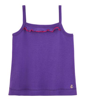 Camiseta de tirantes para niña violeta Real