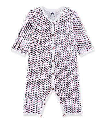 Pijama sin pies para bebé niño blanco Ecume / blanco Multico