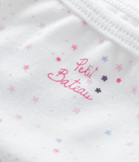Braguita para niña blanco Ecume / rosa Bonbec