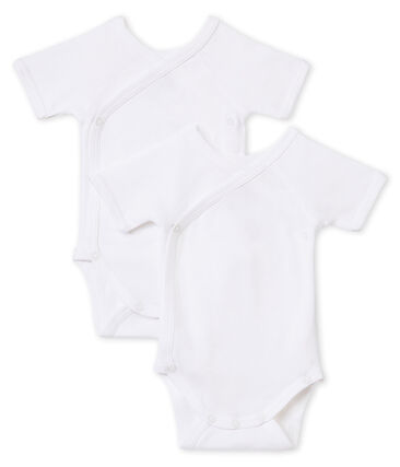 Par de bodis de nacimiento manga corta para bebé lote .