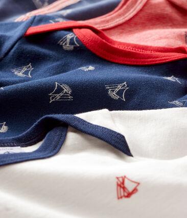 Conjunto para bebé niño con pijama de terciopelo y bodis de manga larga de punto