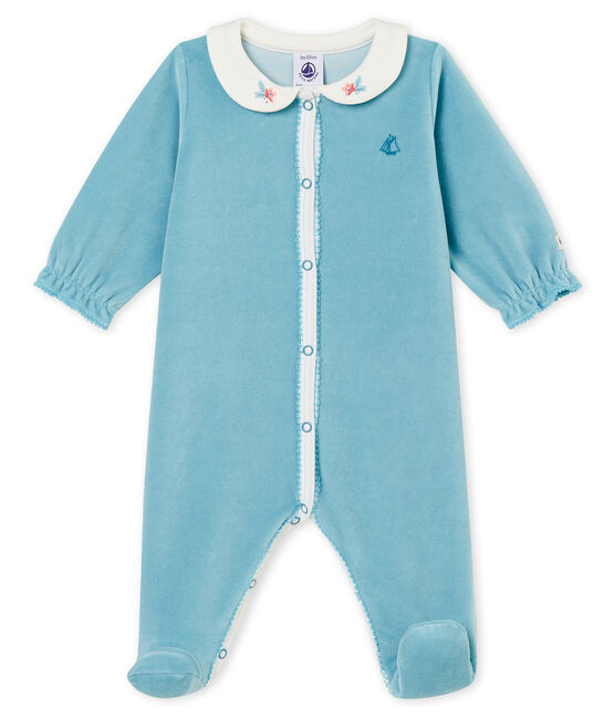 Pelele de noche para bebé niña azul Mimi