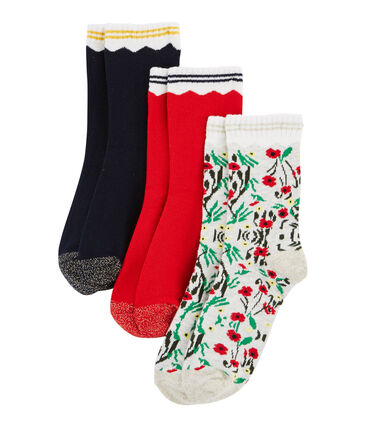 Lote de 3 pares de calcetines infantiles para niña lote .