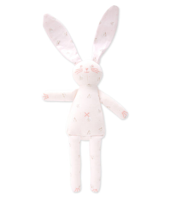 Doudou lapin rosa Vienne / blanco Ecume