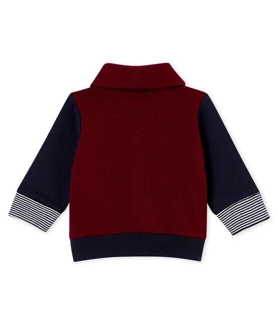 Cárdigan para bebé niño en muletón rojo Ogre / azul Smoking