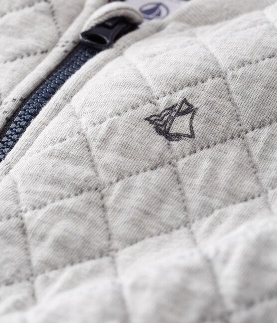 Cárdigan de tela túbica acolchada para bebé niño gris Beluga