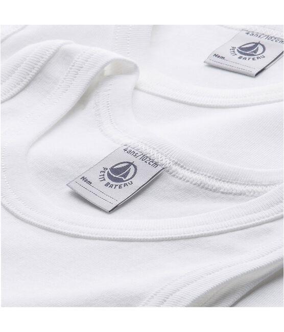 Lote de 2 camisetas de tirantes blancas de niño lote .