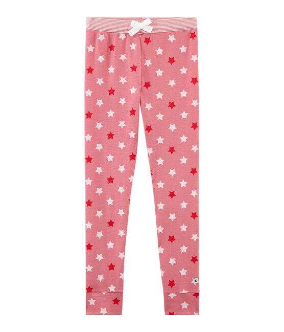 Pantalón de pijama para niña rosa Cheek / blanco Multico