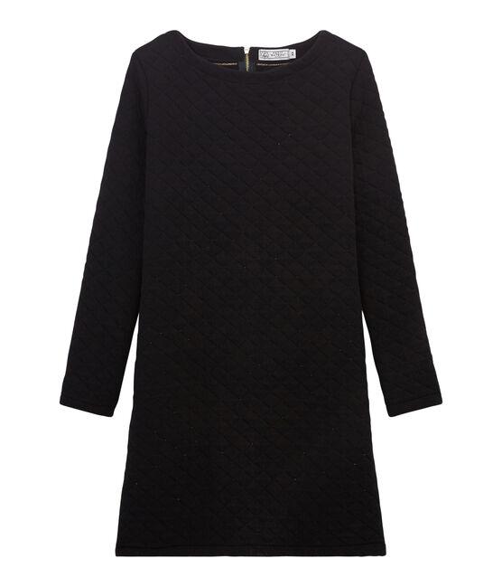 Vestido recto de túbico para mujer negro Noir / amarillo Dore