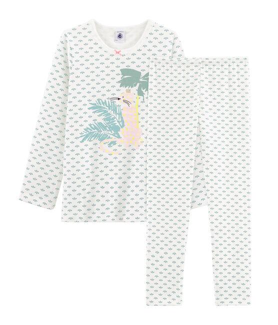 Pijama de tela túbica para niña blanco Marshmallow / blanco Multico