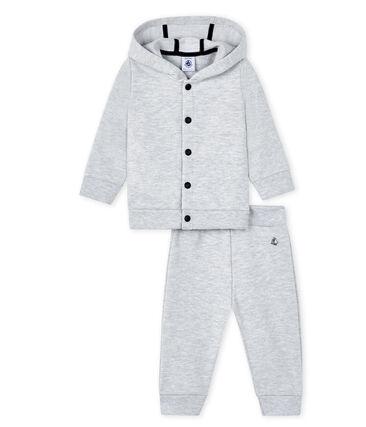 Sudadera y jogging para bebé gris Poussiere Chine