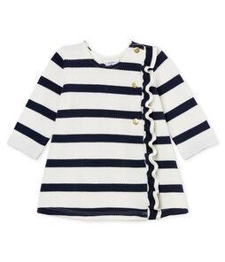 Vestido milrayas marinero para bebé niña