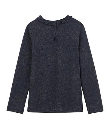 Camiseta de manga larga para niña azul Smoking / amarillo Or