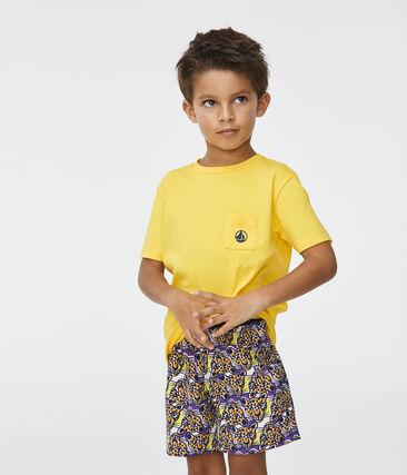 Camiseta de niño amarillo Shine