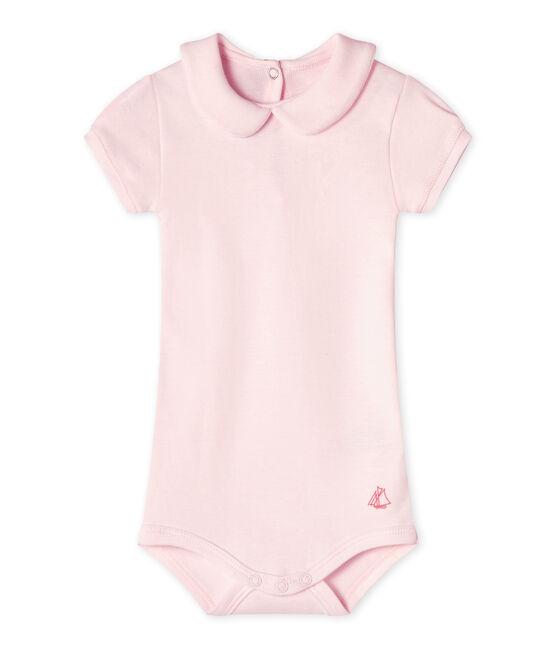 Body para bebé niña con cuello rosa Vienne