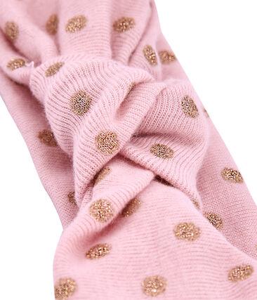 Banda a topos rosa Joli / amarillo Dore