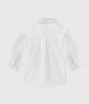 Camisa de ceremonia para bebé niño blanco Ecume