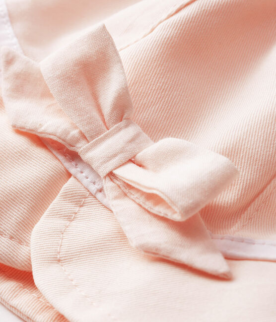 Capelina de sarga bebé niña rosa Fleur