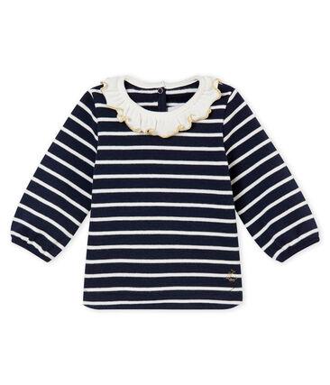 Marinera para bebé niña azul Smoking / blanco Marshmallow