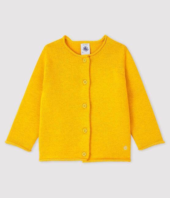 Cárdigan de manga larga para bebé niña amarillo Boudor
