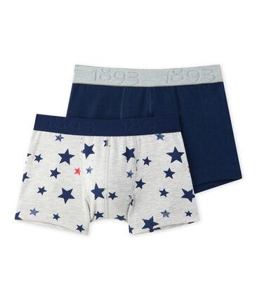Lote de 2 boxers: jersey stretch estampado + liso lote .