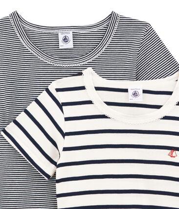 Par de camisetas manga corta para niña