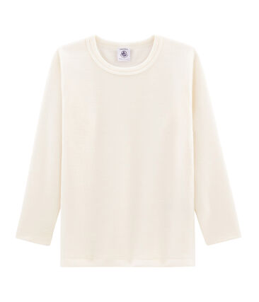 mejor venta hacer un pedido primera vista Camiseta infantil de manga larga en lana y algodón | Petit ...