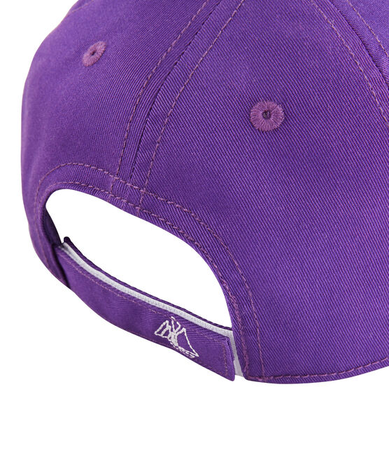 Gorra de sarga niña violeta Real