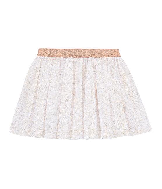 Falda infantil para niña blanco Marshmallow / rosa Copper