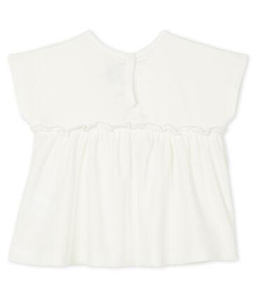 Blusa de manga corta lisa para bebé niña blanco Marshmallow
