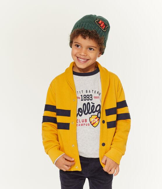 Cárdigan de niño amarillo Boudor
