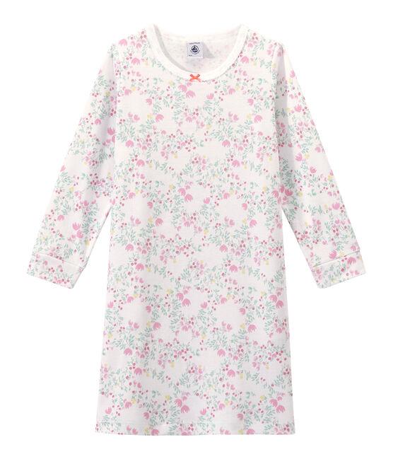 Camisón de manga larga estampado para niña blanco Ecume / blanco Multico