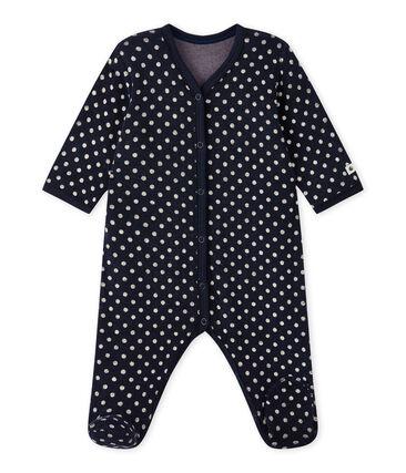 Pijama de lunares para bebé niña