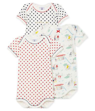 Tres bodis de manga corta para bebé niña lote .