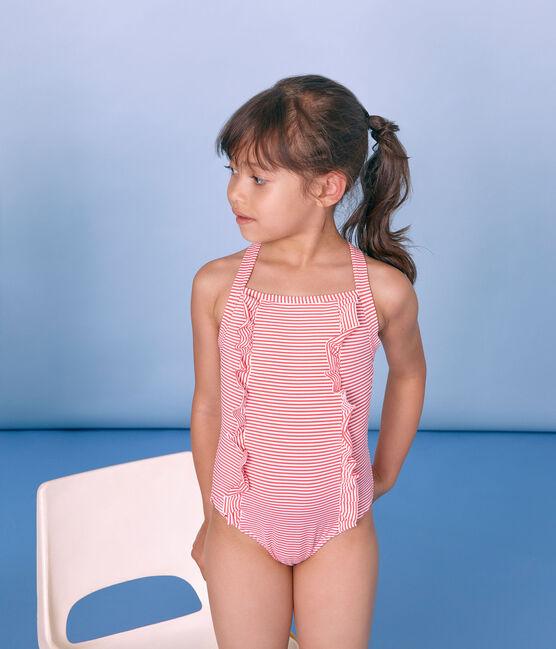Traje de baño 1 pieza para niña rosa Petal / azul Crystal