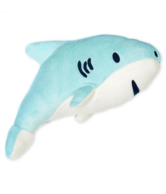 Peluche de tiburón de terciopelo azul Glacis