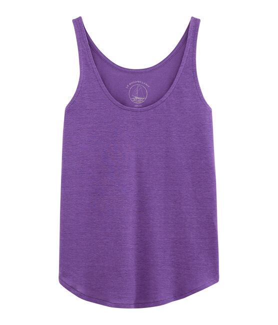 Camiseta de tirantes de lino para mujer violeta Real