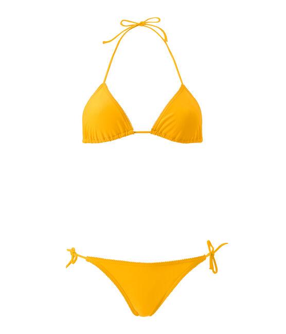 Bikini para mujer liso naranja Fusion